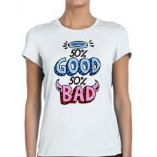 """""""50% Good 50% Bad"""" sieviešu T-krekls ar sublimācija apdruku"""
