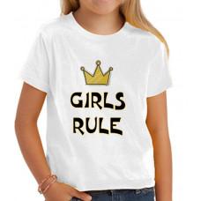 """""""Girls Rule"""" T-krekls bērnu ar sublimācijas apdruku"""