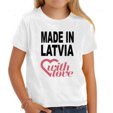 """""""Made in Latvia"""" T-krekls bērnu ar sublimācijas apdruku"""