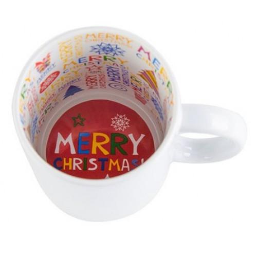Кружка Merry Christmas 330 мл, с вашим дизайном