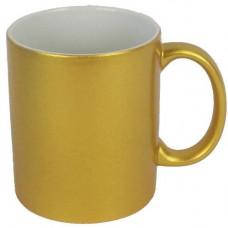 Krūze zelta 330 ml ar apdruku.