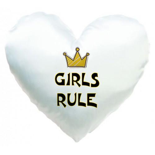 ''Girls rule'' Подушка СЕРДЦЕ