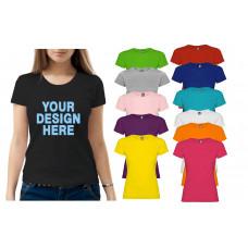 T-krekls sieviešu ar termoapdruku